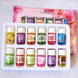 Etherische Oliën voor Aromatherapie Lavendel Luchtbevochtiger Olie met 12 essentiële olie Rose olie Aromatherapie groene thee