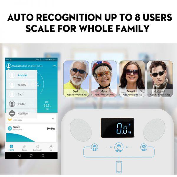 Bluetooth weegschaal hulp bij afvallen 3