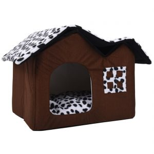 Compacte Hondenmand (huis) - 55x40x42 cm