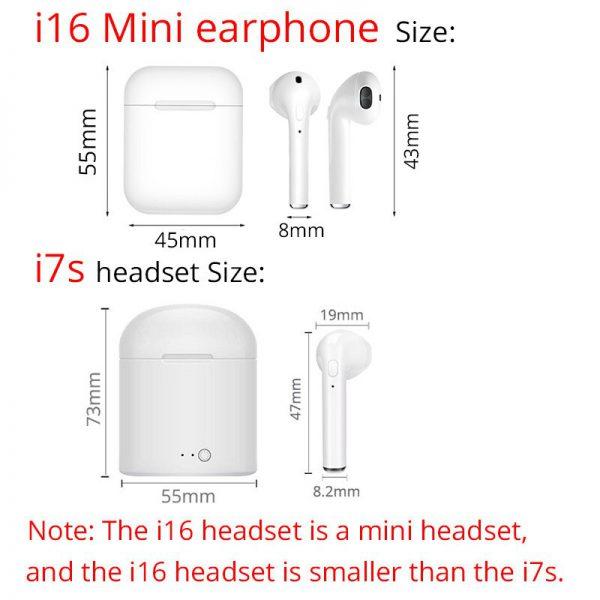 Draadloze Bluetooth oortjes i16 5